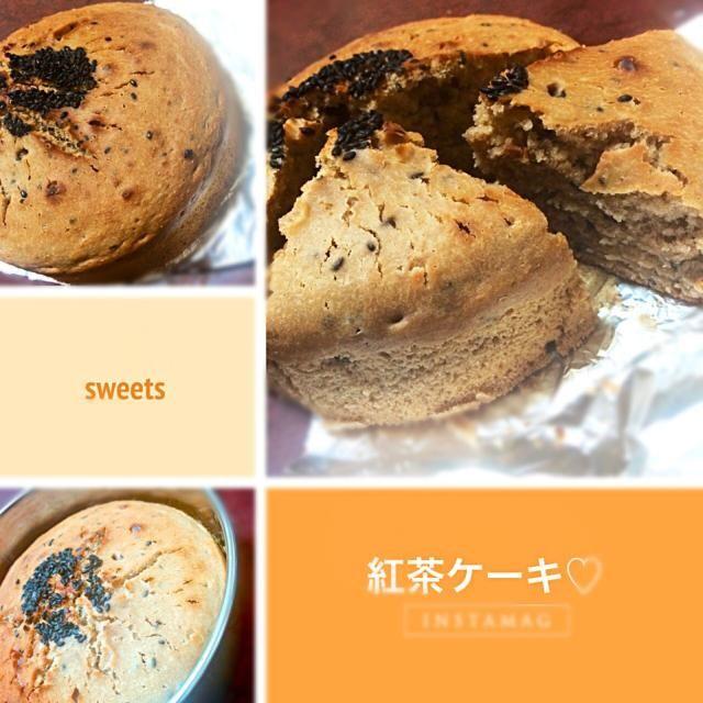 ミルクティーの紅茶の粉を使って作りました✋ - 46件のもぐもぐ - 紅茶のケーキ by asyt42nkno527