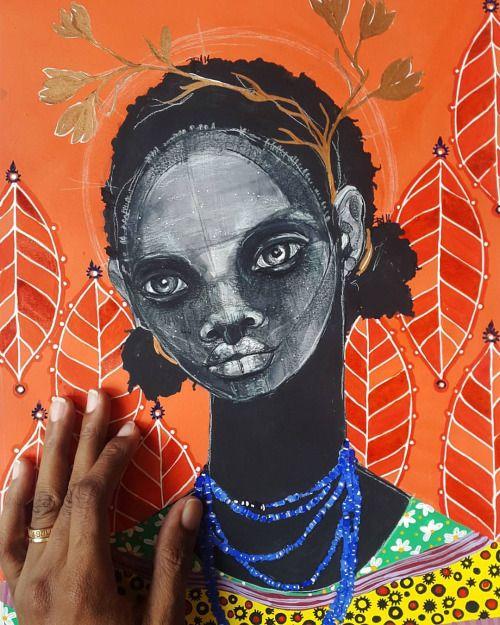 Alma de Pretinha - A ilustradora Brianna é auto didata e vive em Trinidade Tobago, suas ilustrações em técnicas diversas são hipnotizantes e carregam aquele colorido tropical particular da cultura negra como um todo.