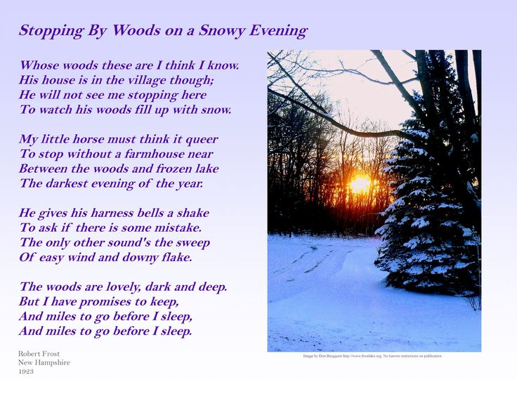 review robert frost s stopping by woods Stopping by woods on a snowy evening by robert frost: summary and critical analysis the speaker is probably a farmer returning home from far away.