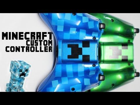 2 Minecraft Themed Custom Xbox Controllers by ProModz.com