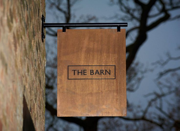 The Barn — simple elegance so effective for shopfront signage