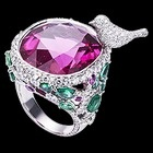 Limelight Garden Party ring White gold Rubellites Diamond Ring - Piaget Luxury Jewellery G34LQ200
