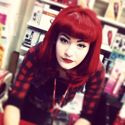 Rock N Roll Girl Hairstyles : 33 best manic panic rock n roll red images on pinterest