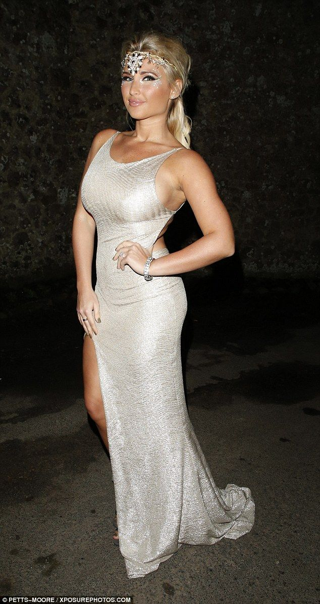 Looking good: Billie Faiers oozed glamour in her flattering gold dress, which showed off h...