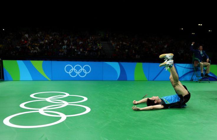 リオ五輪第6日。卓球。水谷準が卓球では史上初となる個人のメダルを獲得=ブラジル・リオデジャネイロ