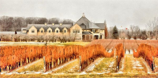 Peller Estates - Niagara On The Lake - January Art Print by Leslie Montgomery.