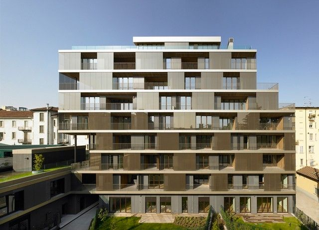 Beautiful Residential Complex, Milan, Italy , 2011 | http://www.designrulz.com/architecture/2011/07/beautiful-residential-complex-milan-italy-2011/