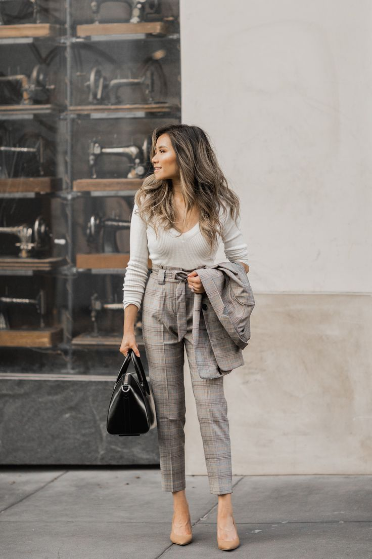 PLAID WORK OUTFITS for FALL