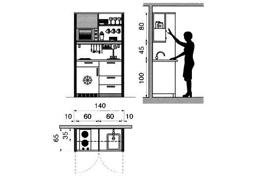 Plan cuisine gratuit : 20 plans de cuisine de 1 m2 à 32 m2 - Côté Maison