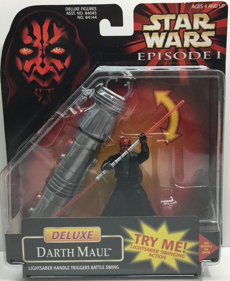 (TAS033188) - 1998 Hasbro Star Wars Episode I Deluxe Darth Maul Lightsaber Toy