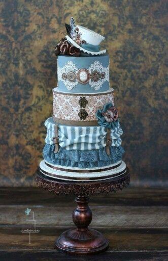 Historical dress cake