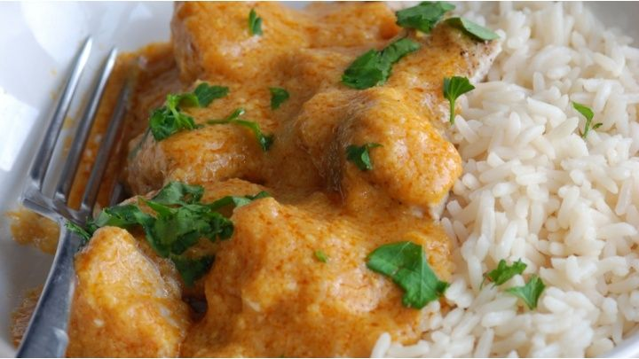 Toddler fruity chicken curry