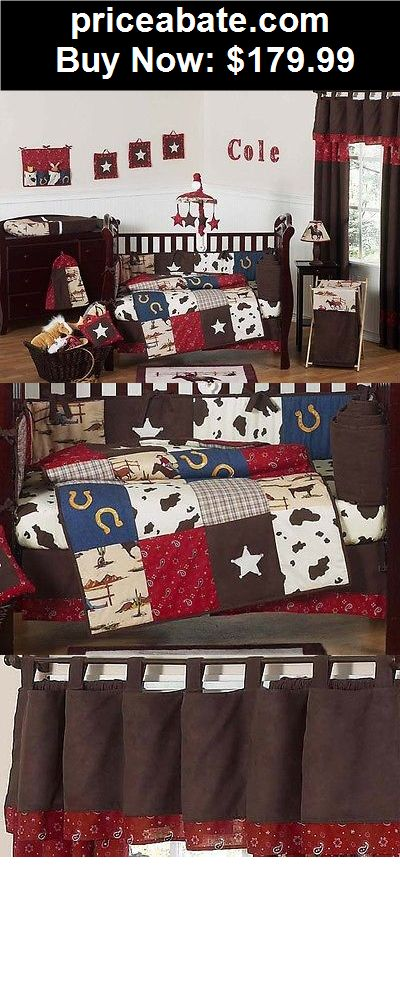 Baby: CHEAP DESIGNER JOJO DESIGN HORSE WESTERN THEMED COWBOY BABY BOY CRIB BEDDING SET - BUY IT NOW ONLY $179.99