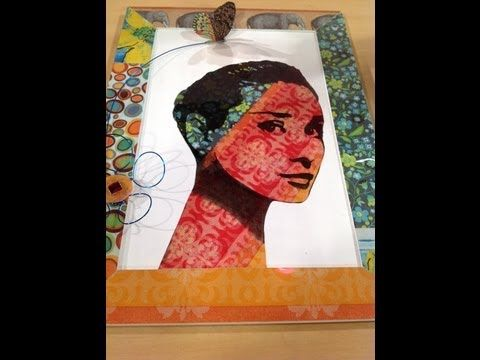 Como hacer retro decoupage con acetato - Cuadros Retro & Pop - YouTube
