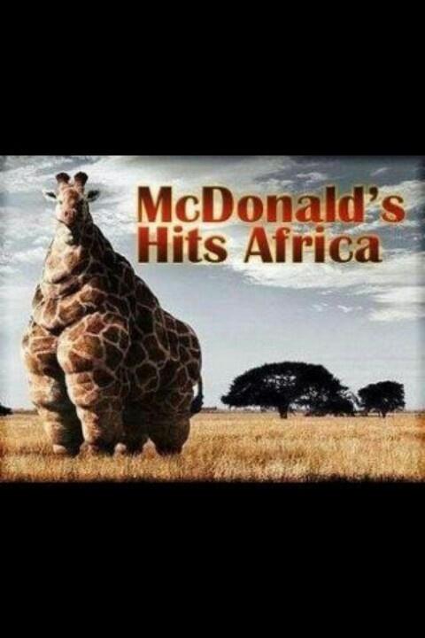 Mcdonalds Hits Africa Funny Crack Pinterest Africa