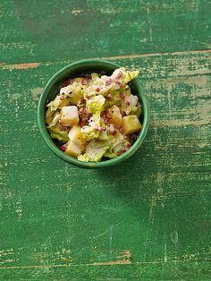 Rahmwirsing mit Kartoffeln und Schinken