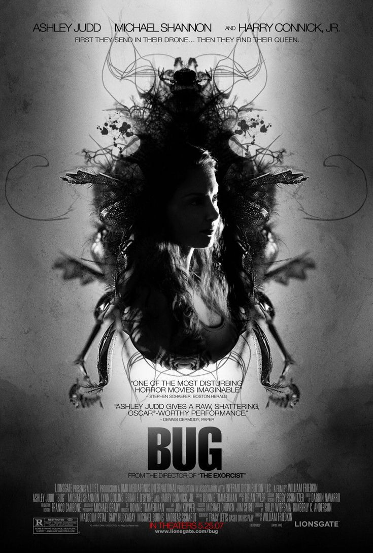 Bug, 2006, psychological, horror, Tracy Letts, William Friedkin, Ashley Judd, Michael Shannon, Harry Connick, Jr., Lynn Collins, Brian F. O'Byrne