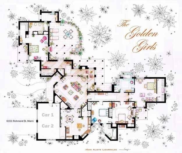 The Golden Girls floor plan