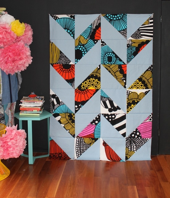 Marimekko fabric. Siobhan Rogers from Bee Spoke Quilts