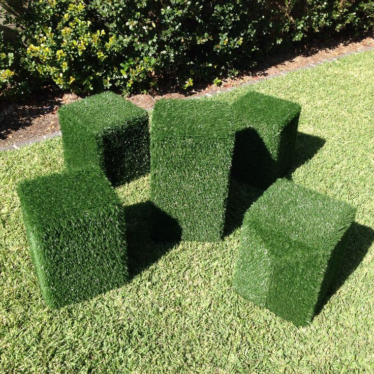 Astro turf stools and table great for garden and outdoor parties, for hire from Brandition. Www.brandition.com.au