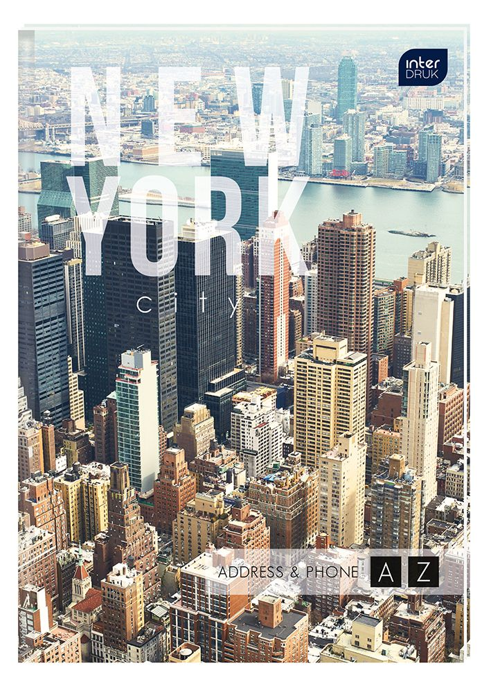 Skorowidz Adresownik A6 Interdruk New York Skyline Skyline New York