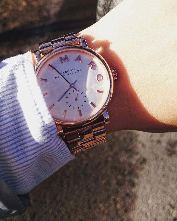 Rosegold Baker watch by Marc by Marc Jacobs.