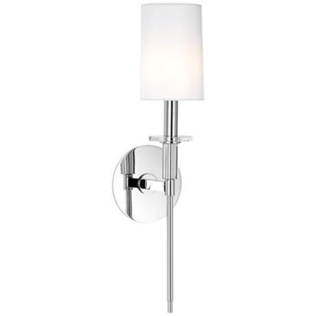 "Is this too modern? Hudson Valley Amherst Nickel 18 3/4"" High Wall Sconce - #U3684 | LampsPlus.com"