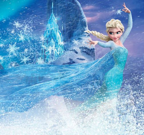 FROZEN Elokuva DISNEY, Elsan ja koko elokuvan innoittajana on toiminut H.C. Andersenin satu Lumikuningatar.
