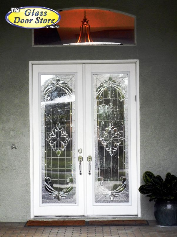 Amazing 8 Ft Front Doors With Full Size Decorative Glass Door Inserts. This Is A  Formal