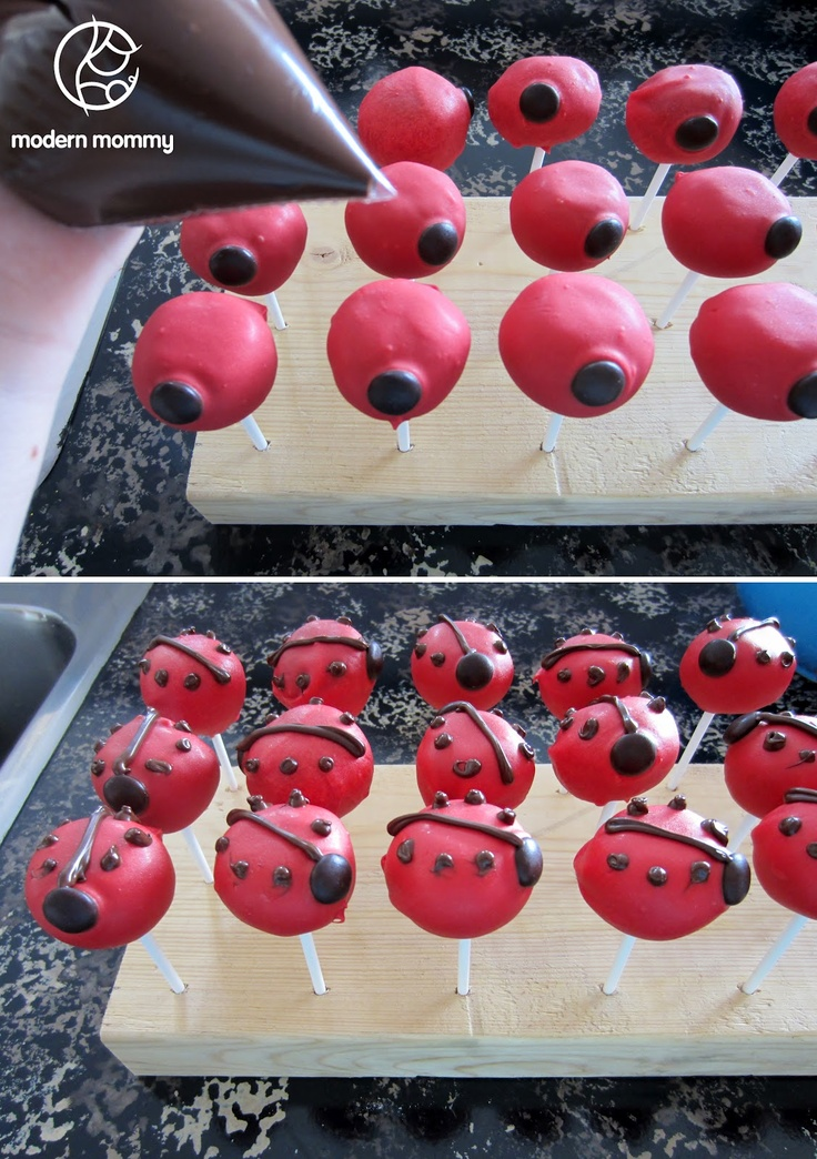Modern Mommy: Make It Monday: Ladybug Cake Pops