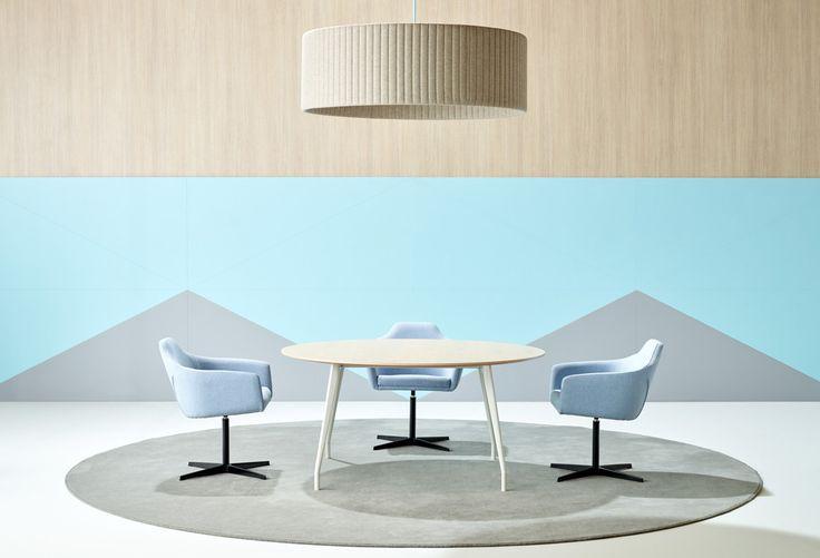 Aire table is designed by Mario Ruiz, in response to a progressive work landscape | Schiavello.