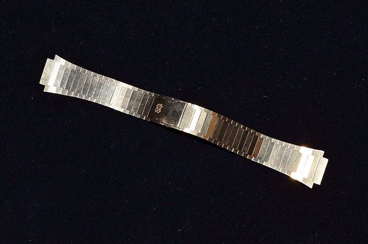 "SEIKO SQ SGP Top Stainless Steel Back Watch Band 20mm NEW GP 6.2"" long Gold Tone #Seiko"