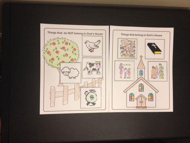 Virtue Lesson  Jesus Cleanses The Temple Preschool Craft
