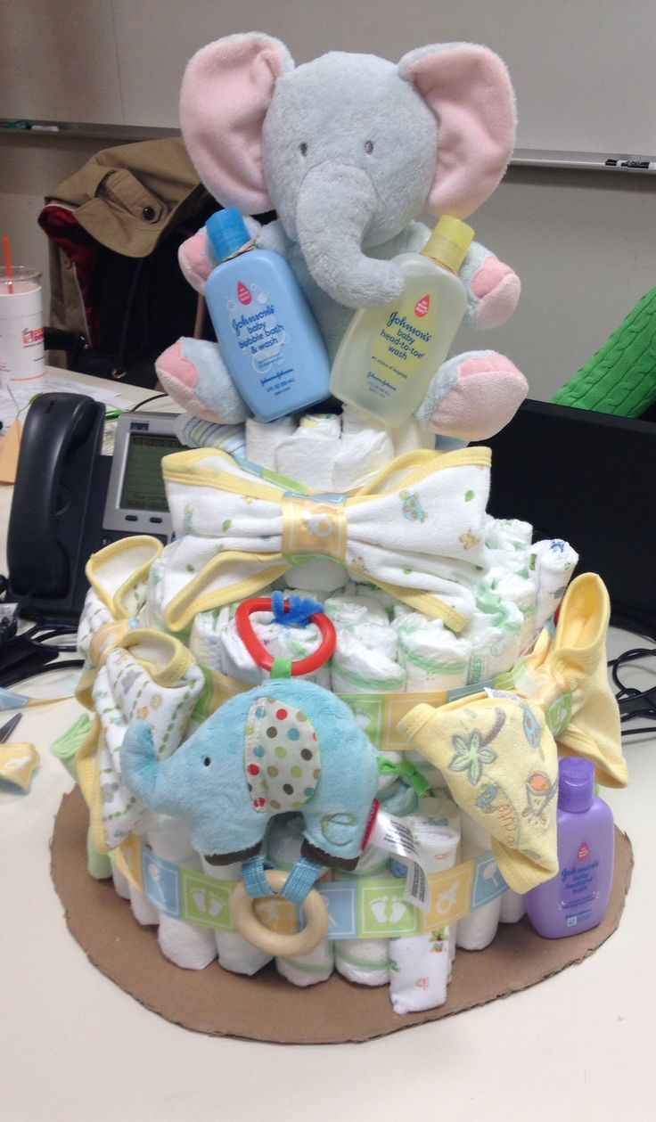 1000 Ideas About Elephant Diaper Cakes On Pinterest