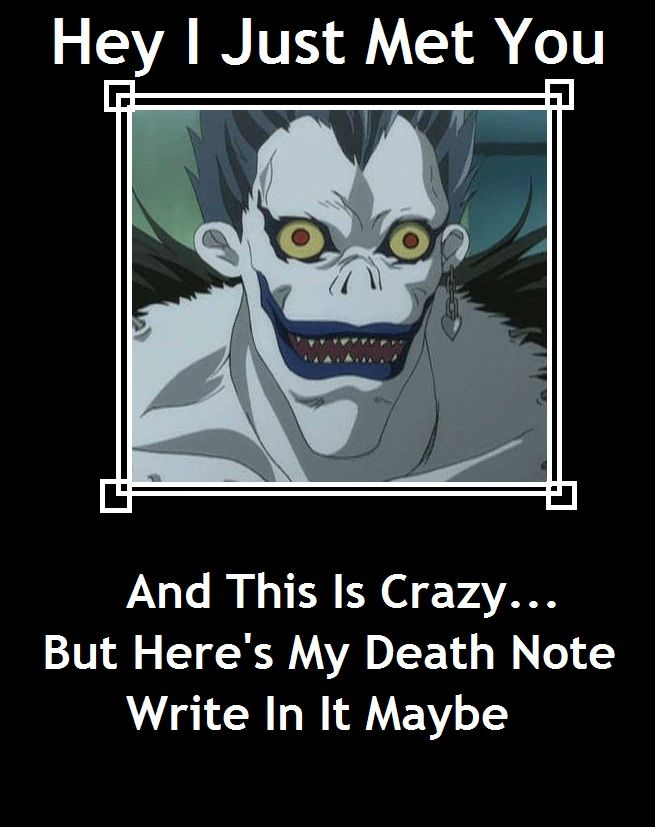If this is what actually happened in the anime, then I would die laughing, no death note needed