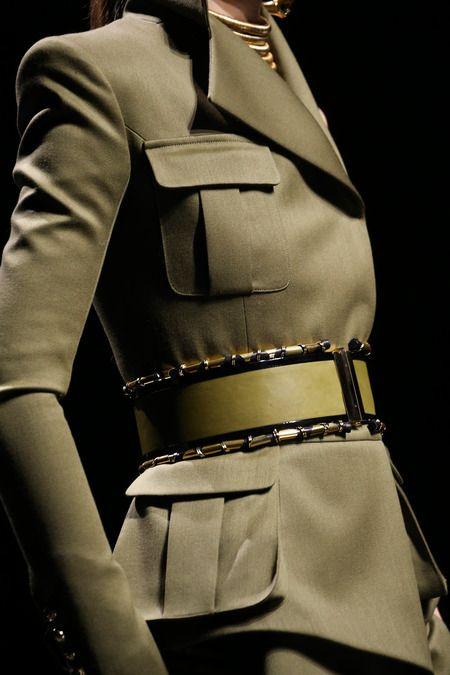 Balmain | Fall 2014 RTW #trend #army green