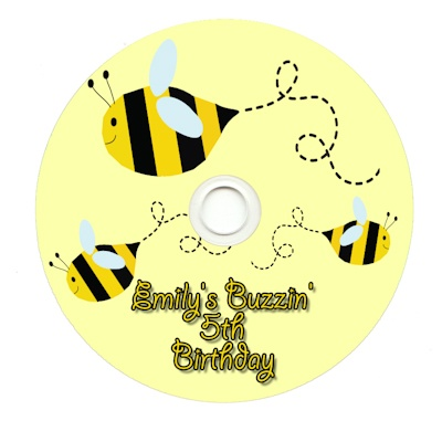 World of Pinatas - Bee Personalized CDR, $2.59 (http://www.worldofpinatas.com/bee-personalized-cdr/)