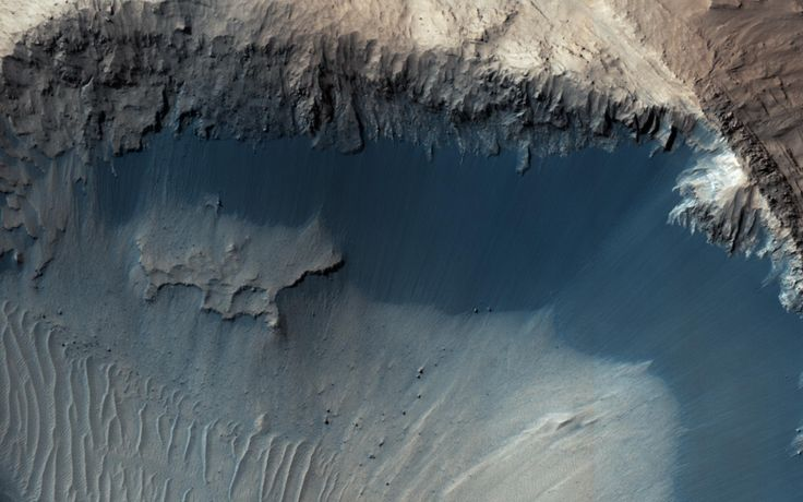 Where Does the Sand Come From? This image from NASA's Mars Reconnaisance Orbiter (MRO) shows one possible place where sand grains are being produced on Mars today.