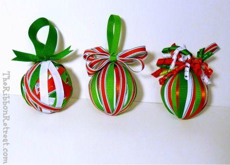 ribbon christmas ornaments | Ribbon Wrapped Christmas Ornament - {The Ribbon Retreat Blog}