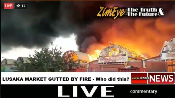WHILE POLICE WERE WATCHING: How and Why Zambia's Largest Market was Burnt Down - http://zimbabwe-consolidated-news.com/2017/07/04/while-police-were-watching-how-and-why-zambias-largest-market-was-burnt-down/