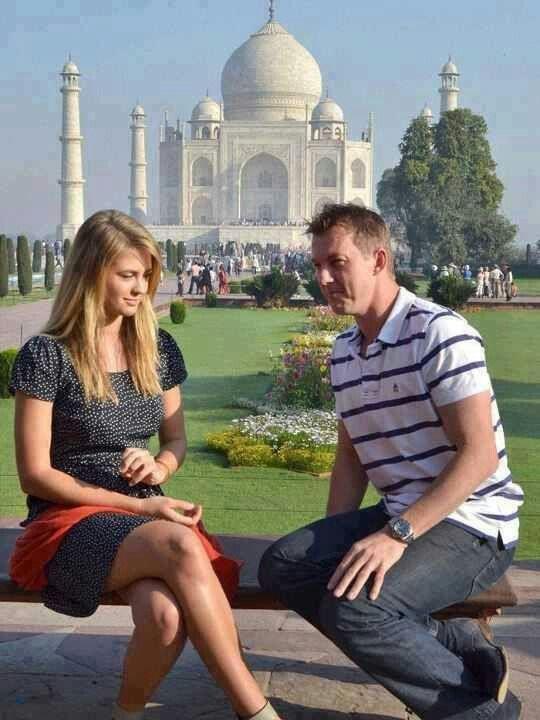 Brett Lee at the Taj Mahal