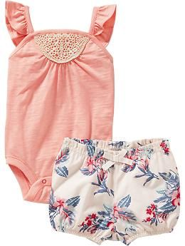 Bodysuit and Bloomer Sets for Baby