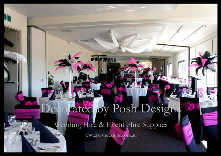 #Pink sashes #Pink feathered table centres - #wedding and #event #theming available at #poshdesignsweddings - #sydneyweddings #countryweddings #southcoastweddings #wollongongweddings #ruffledsashes #weddingsashes All stock owned by Posh Designs Wedding & Event Supplies – lisa@poshdesigns.com.au or visit www.poshdesigns.com.au or www.facebook.com/.poshdesigns.com.au #Wedding #reception #decorations #Outdoor #ceremony decorations #Corporate #event decoration #Fundraising decoration…