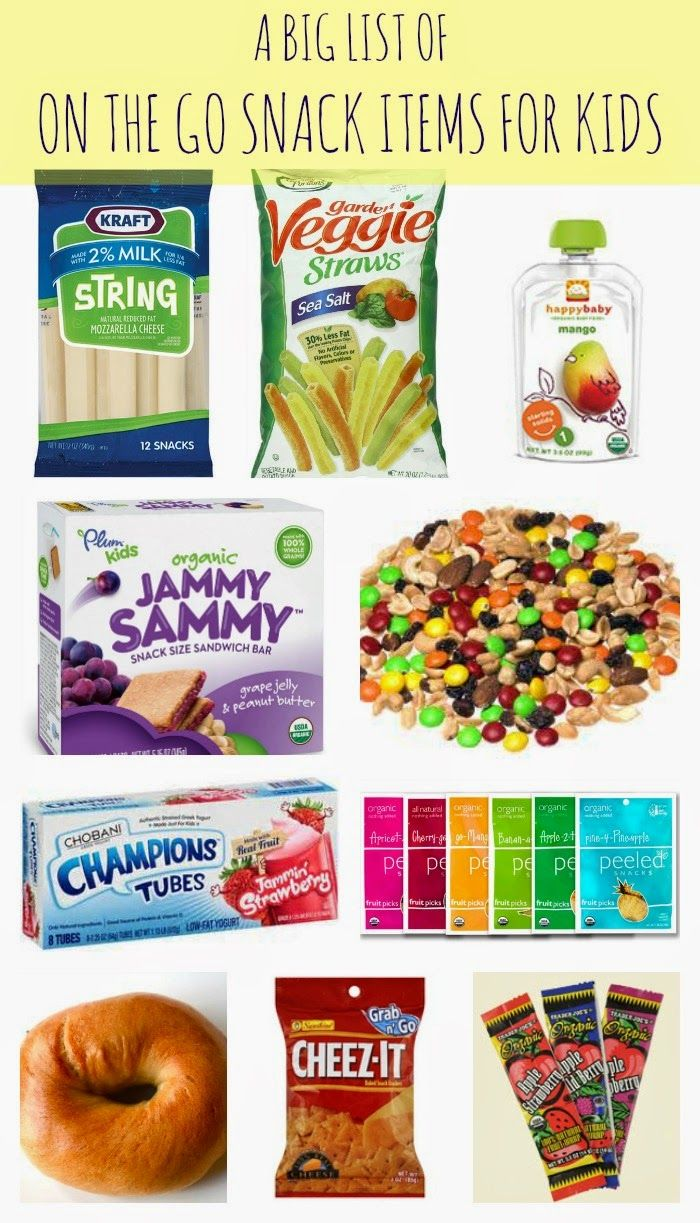 On the Go Snack Ideas for Kids    The Chirping Moms