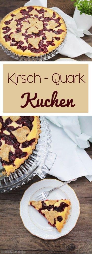 C&B with Andrea - Kirsch-Quark-Kuchen - Cheesecake Rezept - www.candbwithandrea.com - Collage