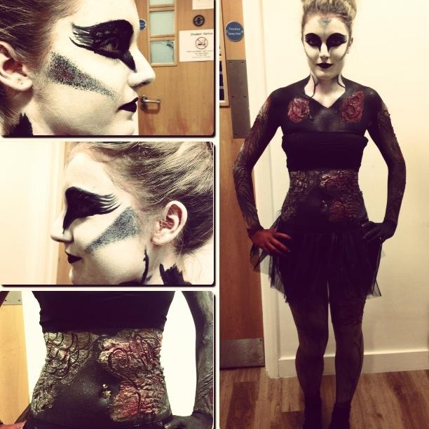Black swan body art