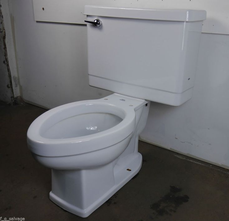 Antique Vintage Crane Drexel Toilet 1960 S White Antique