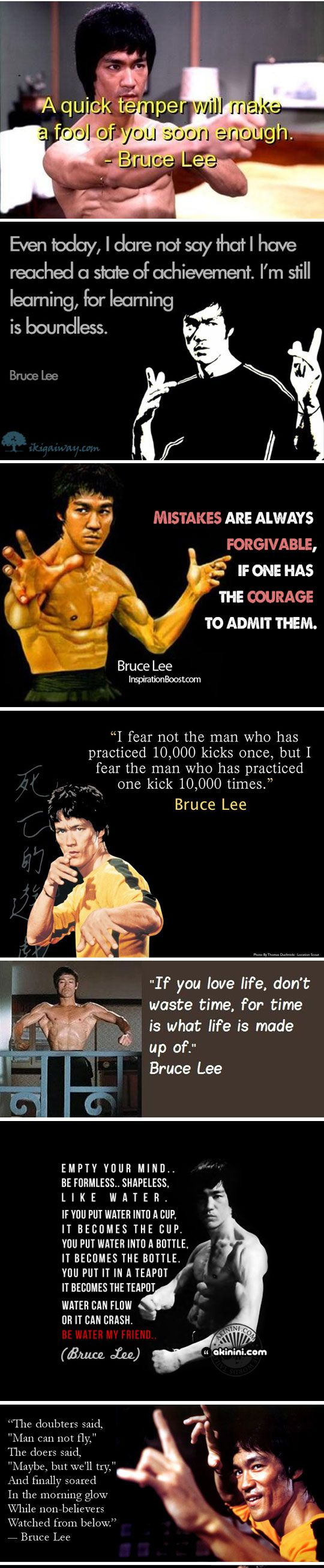 Just A Little Bruce Lee  (I should make a board just for him. Growing up with brothers, saw several movies, then saw interviews with Bruce and discovered what an astounding human being he really was.) <3