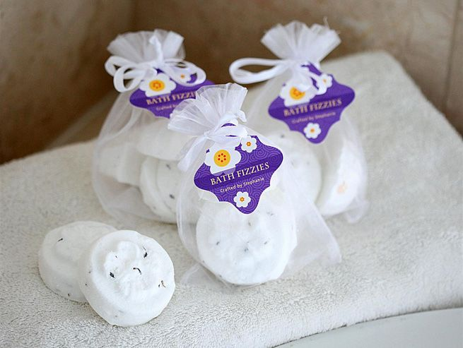 Homemade Bath Fizzies from My Own Ideas blog #beauty #bathbomb #homemade #craft #diy #gift