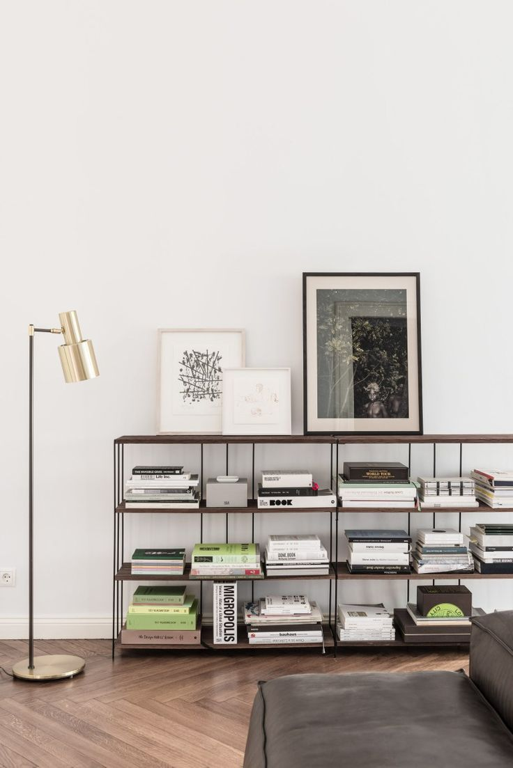 Berlin apartment from the 19th century. Love that leaning art on the shelves. Are you looking for unique and beautiful art photo prints to curate your art wall? Visit bx3foto.etsy.com and follow us on Instagram @bx3foto